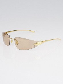 Cartier Brown Lenses Panthere Rimless Frame Sunglasses 110