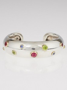 Tiffany & Co. Sterling Silver and Multi-Stone Etoile Cuff Bracelet