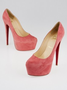 Christian Louboutin Rose Paris Suede Daffodile 160 Pumps Size 10/40.5