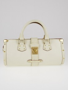 Louis Vuitton White Suhali Leather L'Epanoui PM Bag
