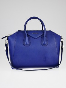 Givenchy Cobalt Sugar Goatskin Leather Medium Antigona Bag
