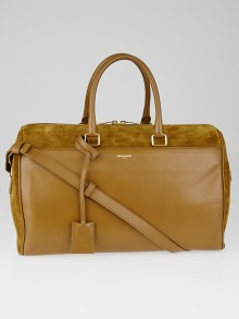 Yves Saint Laurent Ocre Suede/Leather Classic Duffle 12 Bag