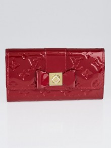 Louis Vuitton Pomme D'Amour Monogram Vernis Sarah Noeud Wallet