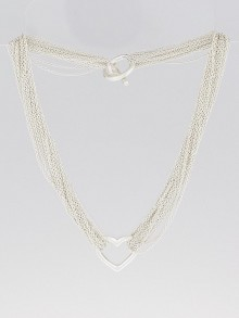 Tiffany & Co. Sterling Silver Multi-Strand Mesh Heart Necklace