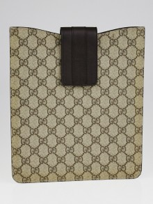 Gucci Beige/Ebony GG Coated Canvas iPad Case