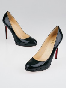 Christian Louboutin English Green Patent Leather New Simple 120 Pumps Size 9/39.5