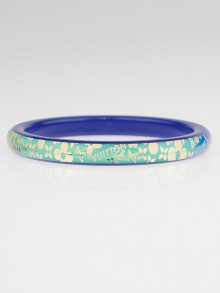 Louis Vuitton Blue Tropical Resin Monogram Bangle Bracelet Size M