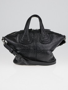 Givenchy Black Textured Leather Micro Nightingale Bag