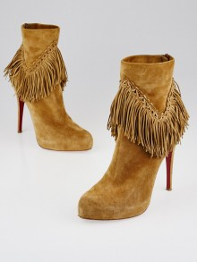 Christian Louboutin Brown Suede Rom 120 Ankle Boots Size 9.5/40