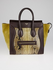 celine brown leather handbag luggage