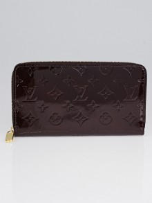 Louis Vuitton Amarante Monogram Vernis Zippy Organizer Wallet