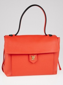 Louis Vuitton Rouge Leather Lockme MM Bag