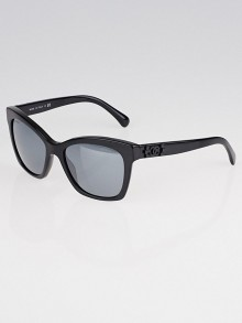 Chanel Black Plastic Frame Tinted Boy Sunglasses- 5313