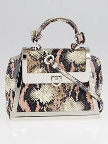 Salvatore Ferragamo Quarzo Rosa Python Mini Sofia Bag