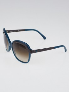 Chanel Turquoise/Grey Gradient Tint Oversized CC Logo Sunglasses-5228
