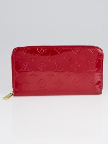 Louis Vuitton Pomme D'Amour Monogram Vernis Zippy Organizer Wallet