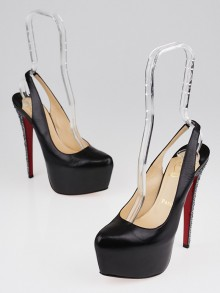 Christian Louboutin Black Leather Dafsling 160 Pumps Size 6.5/37