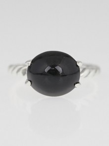 David Yurman 12x10mm Black Onyx Color Classics Ring Size 6.5