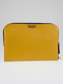 Burberry Dark Marigold Heritage Grain Leather Myler Document Holder