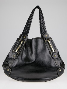 Gucci Black Patent Leather Medium Pelham Shoulder Bag