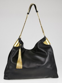 Gucci Black Lambskin Leather Large 1970 Shoulder Bag