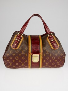 Louis Vuitton Limited Edition Bordeaux Monogram Mirage Griet Exotic Bag