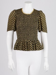Isabel Marant Black Diamond Printed Silk Megan Smock Top Size 4/36