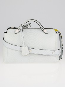 Fendi Pale Blue/Yellow Python Small By The Way Bag 8BL124