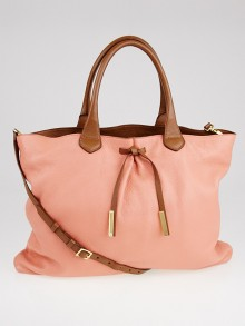 Burberry Prorsum Peach/Camel Leather Studley Medium Bag