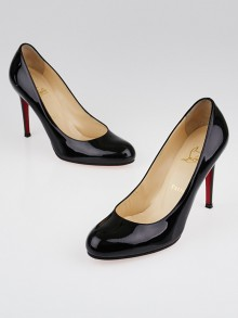 Christian Louboutin Black Patent Leather Simple 100 Pumps Size 8.5/39