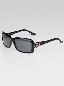Gucci Black Frame Interlocking GG Sunglasses-3111