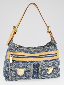Louis Vuitton Blue Denim Monogram Denim Baggy PM Bag