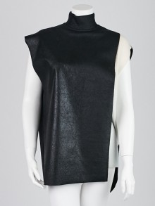 3.1 Phillip Lim Black Wool Double Layer Tunic Top Size XS
