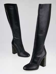 Chloe Black Leather Knee-High Boots Size 9.5/40