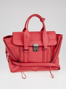 3.1 Phillip Lim Pink Shark Embossed Leather Medium Pashli Satchel Bag