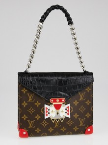 Louis Vuitton Monogram Canvas Aztec Mask Crocodiliens GM Bag