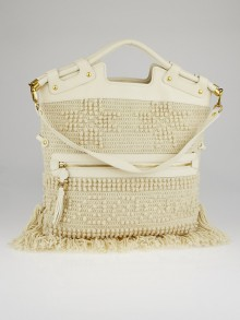 Salvatore Ferragamo Magnolia Wool Fringed Bag