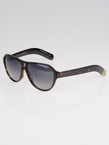 Chanel Brown Tortoise Shell Havana CC Logo Sunglasses-5233