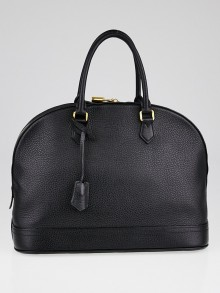 Louis Vuitton Black Taurillon Leather Alma MM Bag