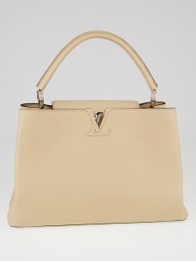 Louis Vuitton Dune Taurillon Leather Capucines MM Bag