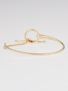 Hermes 18k Rose Gold Filet d'Or Bracelet