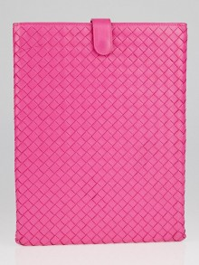 Bottega Veneta Pink Intrecciato Woven Nappa Leather iPad Case