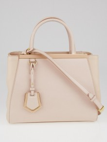 Fendi Pink Vitello Leather Petite Sac 2Jours Elite Tote Bag