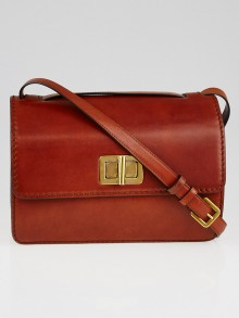 Chloe Mahogany Leather Louise Bag