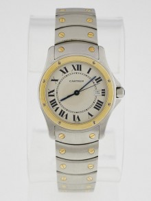 Cartier 28mm Stainless Steel and 18k Gold Ronde Santos Swiss Quartz Watch