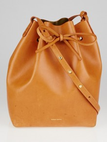 Mansur Gavriel Cammello/Oro Vegetable Leather Bucket Bag