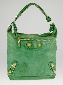 Balenciaga Vert Gazon Chevre Leather Giant 21 Gold Day Bag