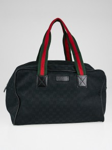 Gucci Black GG Canvas Collapsible Carry-On Duffel Bag