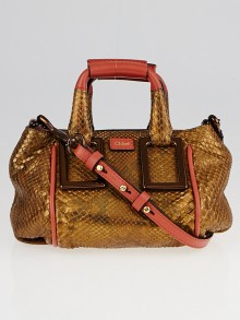 Chloe Copper Python Mini Ethel Crossbody Bag
