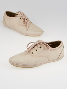 Louis Vuitton Pink Monogram Embossed Nubuck Popincourt Sneakers Size 9.5
